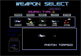 Select Screen for Gradius III.