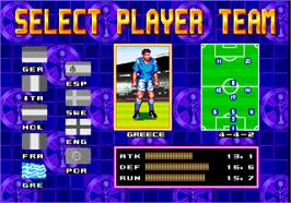 Select Screen for Grand Striker.