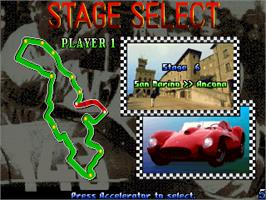 Select Screen for Great 1000 Miles Rally: U.S.A Version!.