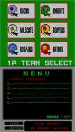 Select Screen for Great Football.