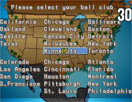 Select Screen for Great Sluggers '94.
