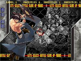 Select Screen for Guilty Gear Isuka.