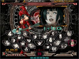 Select Screen for Guilty Gear XX Accent Core.