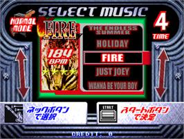 Select Screen for Guitar Freaks 2nd Mix Ver 1.01.