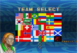 Select Screen for International Cup '94.