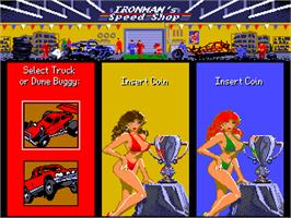 Select Screen for Ironman Ivan Stewart's Super Off-Road Track-Pak.