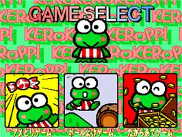 Select Screen for Kero Kero Keroppi no Issyoni Asobou.