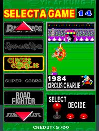 Select Screen for Konami 80's AC Special.