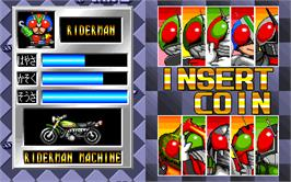 Select Screen for Masked Riders Club Battle Race.