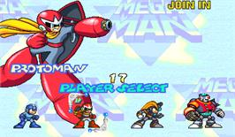 Select Screen for Mega Man 2: The Power Fighters.