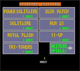 Select Screen for Megatouch 5 Turnier Version.