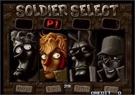 Select Screen for Metal Slug 2 - Super Vehicle-001/II.