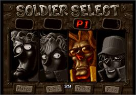 Select Screen for Metal Slug 3.