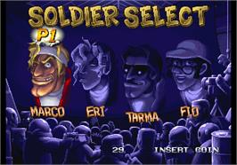 Select Screen for Metal Slug 5.