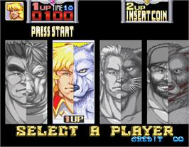 Select Screen for Metamorphic Force.