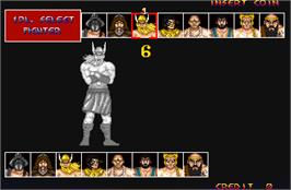 Select Screen for Mighty Warriors.