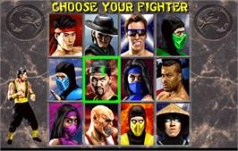 Select Screen for Mortal Kombat II.