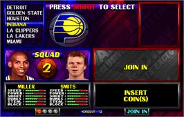 Select Screen for NBA Hangtime.