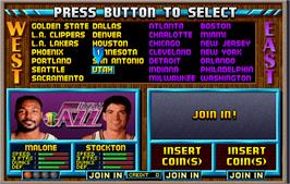 Select Screen for NBA Jam.