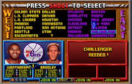 Select Screen for NBA Jam TE.