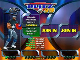 Select Screen for NFL Blitz '99.
