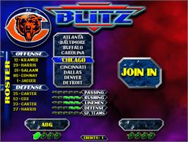 Select Screen for NFL Blitz.