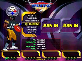 Select Screen for NFL Blitz 2000 Gold Edition.