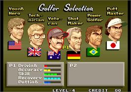 Select Screen for Neo Turf Masters / Big Tournament Golf.