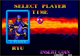 Select Screen for Ninja Commando.