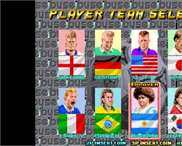 Select Screen for Olympic Soccer '92.