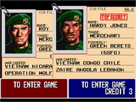 Select Screen for Operation Thunderbolt.