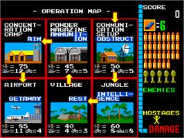 Select Screen for Operation Wolf.