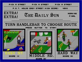 Select Screen for Paperboy.