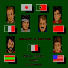 Select Screen for Ping Pong Masters '93.