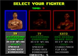 Select Screen for Pit Fighter.