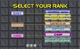 Select Screen for Police Trainer.