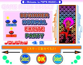 Select Screen for Pop'n Music 2.