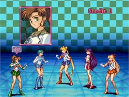 Select Screen for Pretty Soldier Sailor Moon.