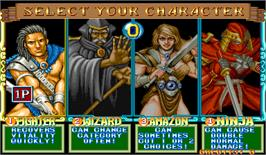Select Screen for Quiz & Dragons: Capcom Quiz Game.