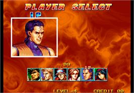 Select Screen for Quiz King of Fighters.