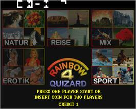 Select Screen for Quizard Rainbow 4.1.