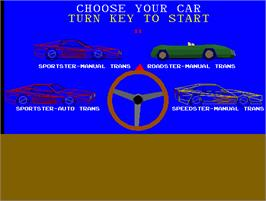 Select Screen for Race Drivin'.