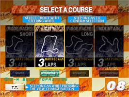 Select Screen for Rave Racer.