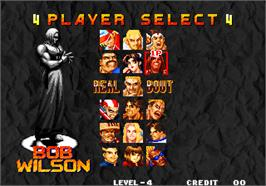 Select Screen for Real Bout Fatal Fury / Real Bout Garou Densetsu.