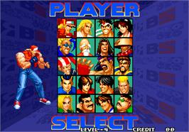 Select Screen for Real Bout Fatal Fury Special / Real Bout Garou Densetsu Special.