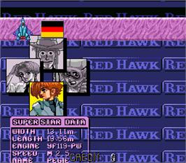 Select Screen for Red Hawk.