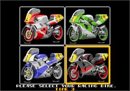 Select Screen for Riding Hero.