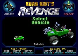 Select Screen for Road Riot's Revenge.