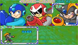 Select Screen for Rockman: The Power Battle.