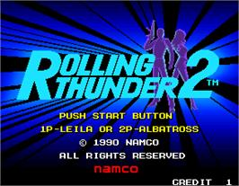 Select Screen for Rolling Thunder 2.